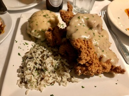 Certified Good Bite: The Speakeasy - Shown Here: Country Fried Steak, Rice Pilaf and Mashed Potatoes